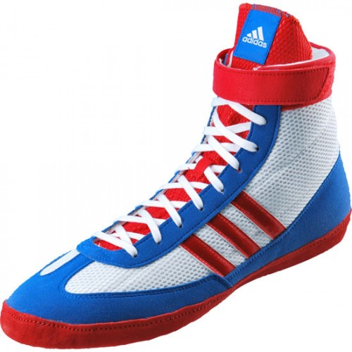 Wrestling Shoes adidas Combat Speed 4 Running White/Vivid Red/Blue ...