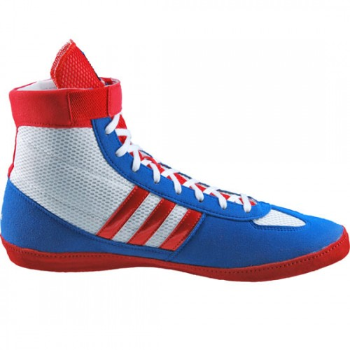 Adidas Combat Speed  White Red Blue Beauty Wrestling Shoes