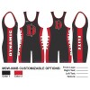 My House Custom Sublimated Wrestling Singlet MSW-006B