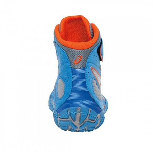Wrestling Shoes Asics Aggressor 2 Dusty Blue Silver Red