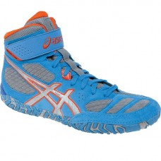 Wrestling Shoes ASICS Aggressor 2 Dusty Blue/Silver/Red Orange