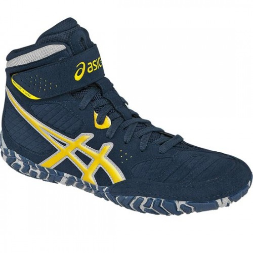 Wrestling Shoes ASICS Aggressor 2 Navy/Sunflower/Silver by JRWrestling