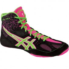 Wrestling Shoes ASICS Cael V6.0 Black/Green/Pink