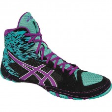 Wrestling Shoes ASICS Cael V7.0 Black/Orchid/Turquoise