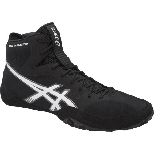 wrestling shoes asics dan gable evo blackwhitecarbon by