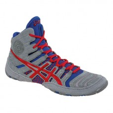 Wrestling Shoes ASICS Dan Gable Ultimate 4 Grey/Red/True Blue