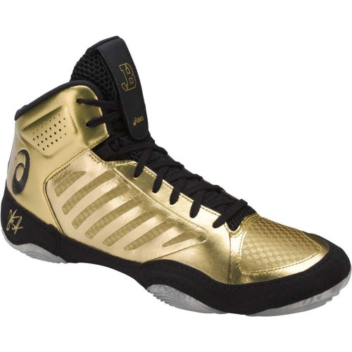4b327cef842e75 Wrestling Shoes ASICS Jordan Burroughs JB Elite III Rich Gold Black ...