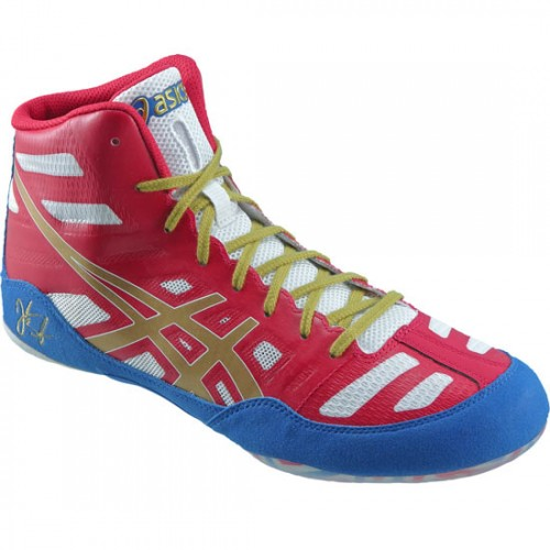 Wrestling Shoes ASICS Jordan Burroughs JB Elite True Red/Oly Gold ...