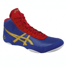 Wrestling Shoes ASICS Jordan Burroughs JB Elite V2.0 Jet Blue/Oly Gold/Red