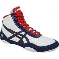 Wrestling Shoes ASICS Jordan Burroughs JB Elite V2.0 White/Dark Navy/True Red