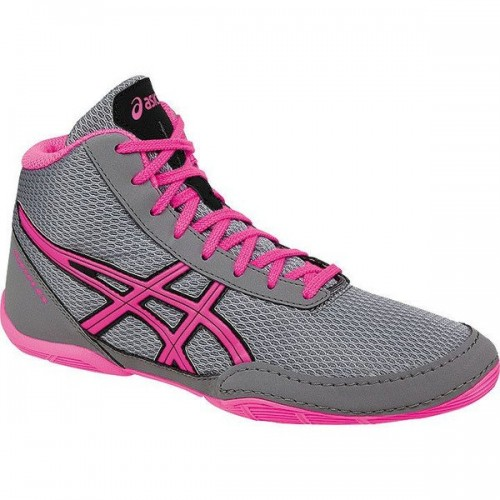 5db41798b041 Wrestling Shoes Asics Matflex 5 GS Youth Aluminum Hot Pink Black by ...
