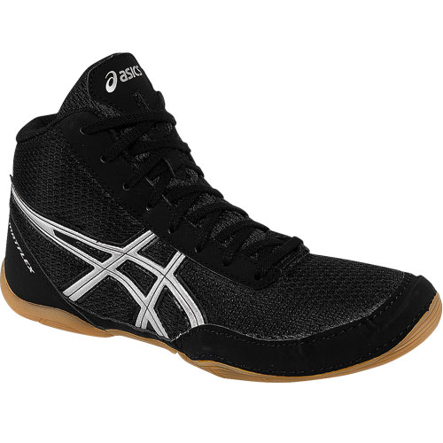 3d7bdb2511c4 Wrestling Shoes Asics Matflex 5 GS Youth Black Silver by JRWrestling