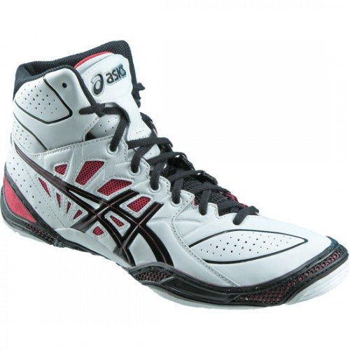 Asics Red Black And White Shoes