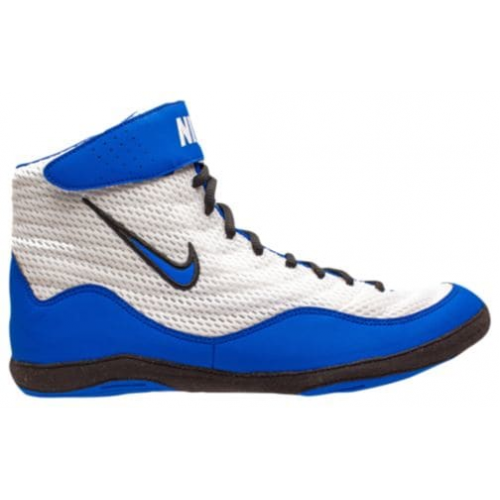 ccc237de8c7d Wrestling Shoes Nike Inflict 3 White Game Royal Black by JRWrestling