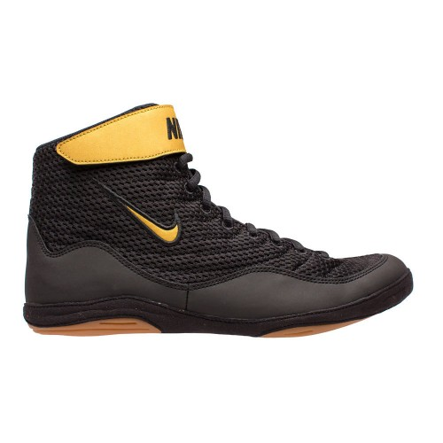 005d2677aa91 Wrestling Shoes Nike Inflict 3 Black Metallic Gold Black by JRWrestling