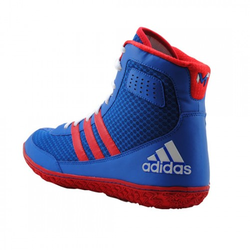 6407472381f8 top quality wrestling shoes adidas mat wizard david taylor royal red white  8c0c3 1c7f7
