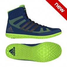 Wrestling Shoes adidas Mat Wizard Navy/Silver/Lime Green