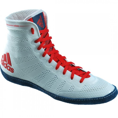 Wrestling Shoes adidas adiZero Varner White/Navy/Red by JRWrestling