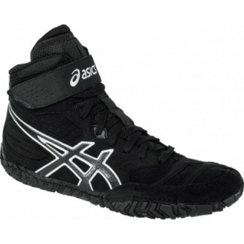 Wrestling Shoes Asics Aggressor 2 Black Onyx Silver By
